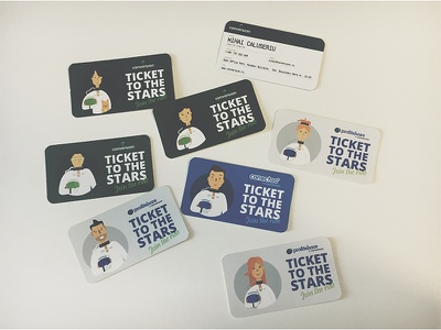 Business cards cards business tickets space