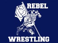 Columbine Rebel Wrestling team mascot