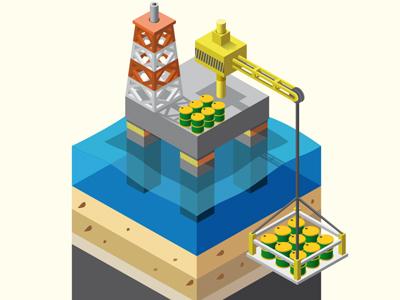 Oil Platform - Infographic