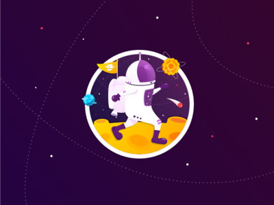 Spaceman on Moon