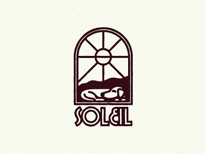 Soleil soleil dog texture sun illustration logo icon