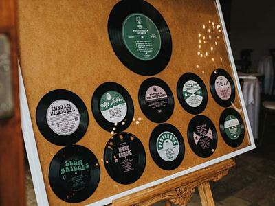 Wedding Table Plan design vintage record lables vinyl record wedding table plan wedding stationery wedding record typography