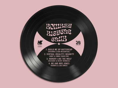 Wedding Table Plan - Bombay music stationery logo branding label record vinyl table plan wedding