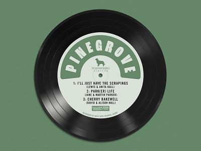 Wedding Table Plan - Pingrove logo typography branding vinyl record music band table plan stationery wedding