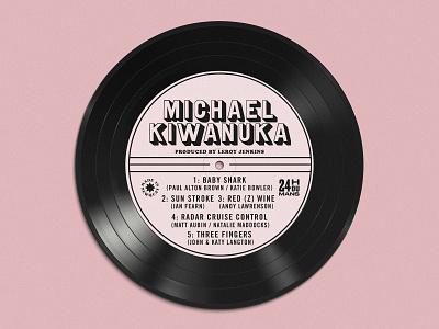 Wedding Table Plan - Kiwanuka typography logo music vinyl record branding stationery table plan wedding