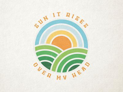 Sun It Rises texture illustration vector sunrise music fleet foxes