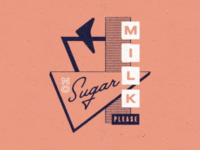 ☕ typography texture coffee motel sign type