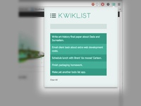 Kwiklist - Yet another todo list.