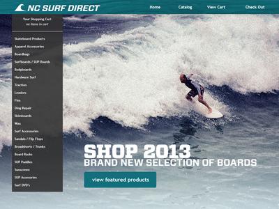 Surfing Website Redesign
