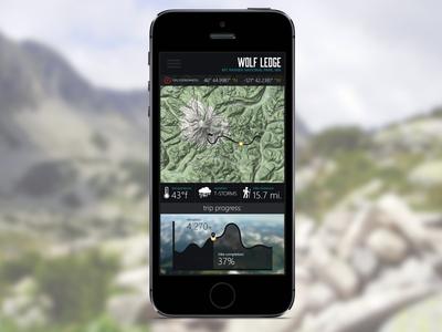 Trailhead App - Hike Screen