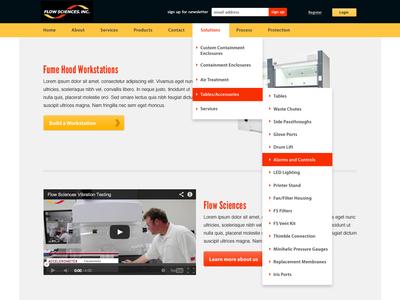 Flow Sciences - Website Design WIP