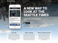 Seattle Times app landing page