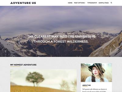 Adventure Us - Travel Blog Wordpress Theme