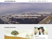 Adventure Us - Travel Blog Wordpress Theme