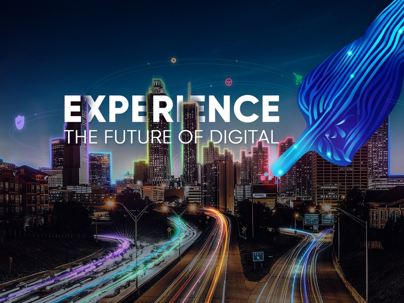 Experience the Future of Digital retouch typography illustration technology artificialintelligence innovation transformation digital futuristic