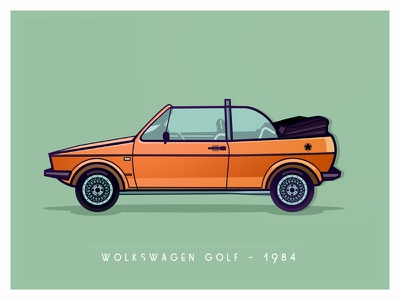 VW Golf vector illustrator graphicdesign graphic vindiesel golf graphics photoshop justforfun youngtimers workinprogress illustration