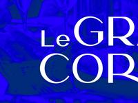 Le Grand Corona restaurant identity typography identity logo branding