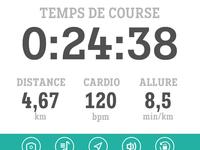J'aime courir, running app UI