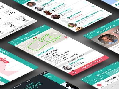 Running app ui android tracker sport data interface app mobile running ux ui ios