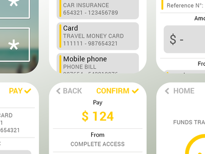 iWatch banking concept ui app ux mockup iwatch concept bank mobile