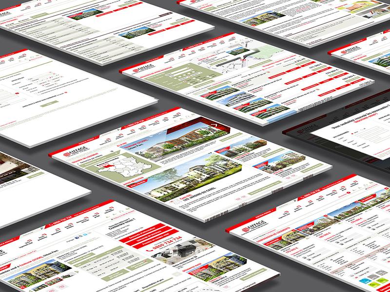 Eiffage immobilier UI responsive user interface ux ui design web
