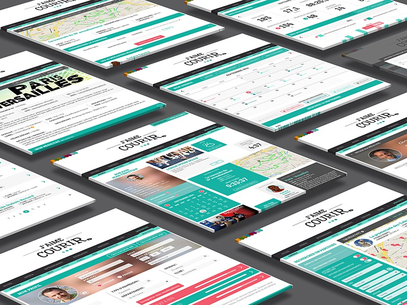J'aime courir responsive website interface webdesign web design ux ui