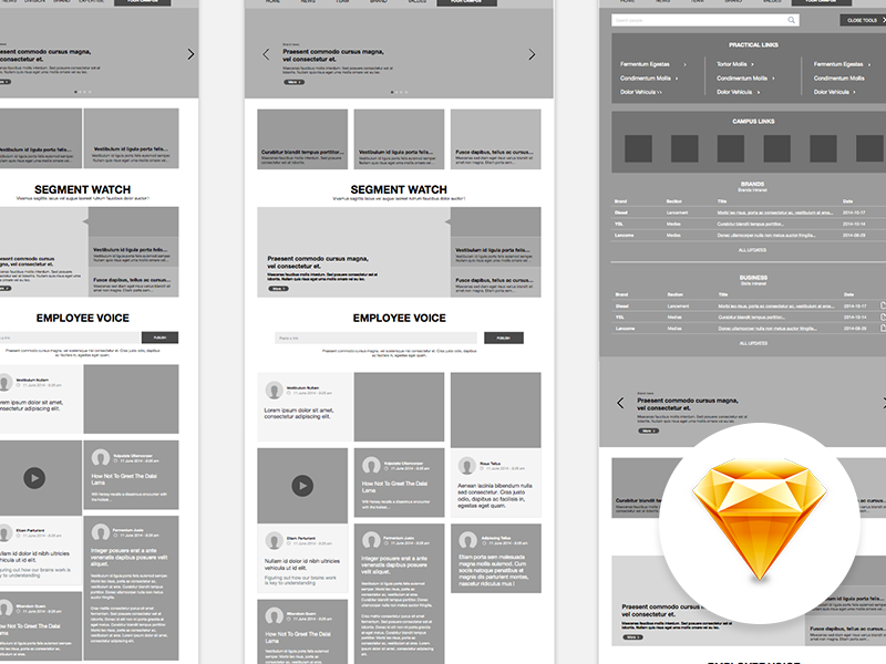 Free sketch wireframe download freebie design ux website intranet wireframe sketch sketchapp free