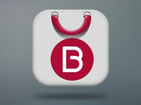 Simple shopping icon
