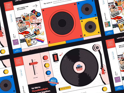 Project Turntable illustration strategy design landing pages interactive web ui records awards music stickers vector web design uidesign