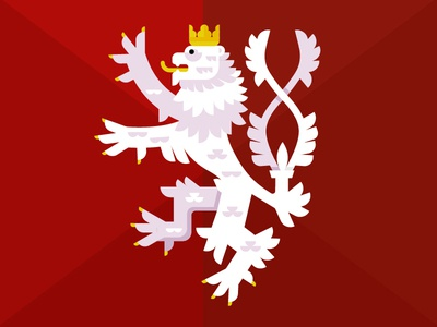 Czech two-tailed Lion
