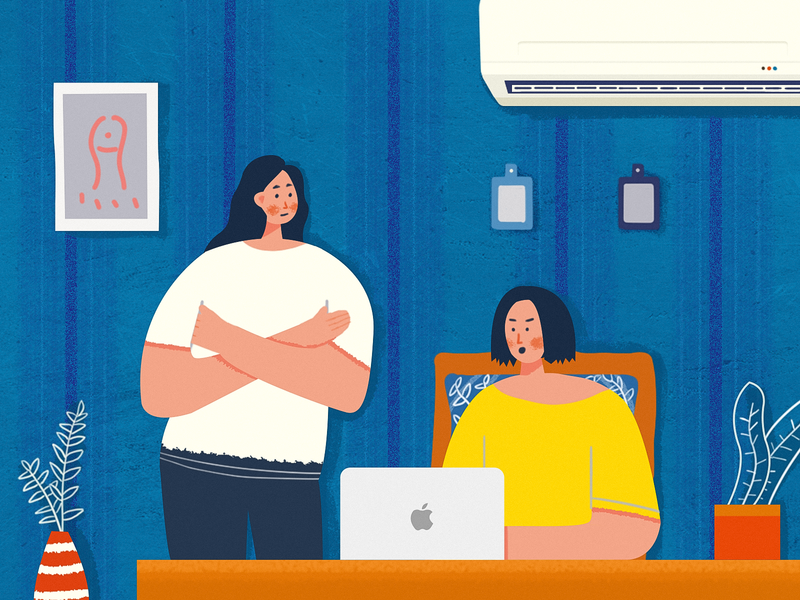Work work illustration
