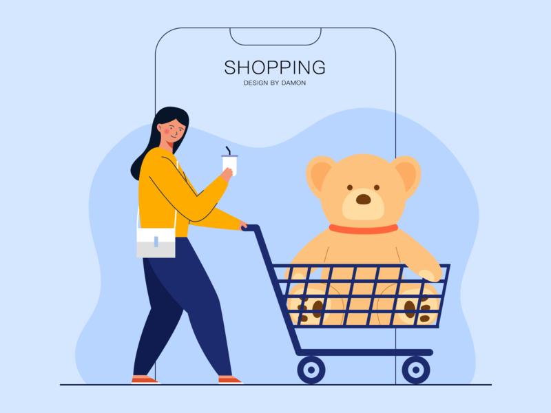 shopping shopping illustration