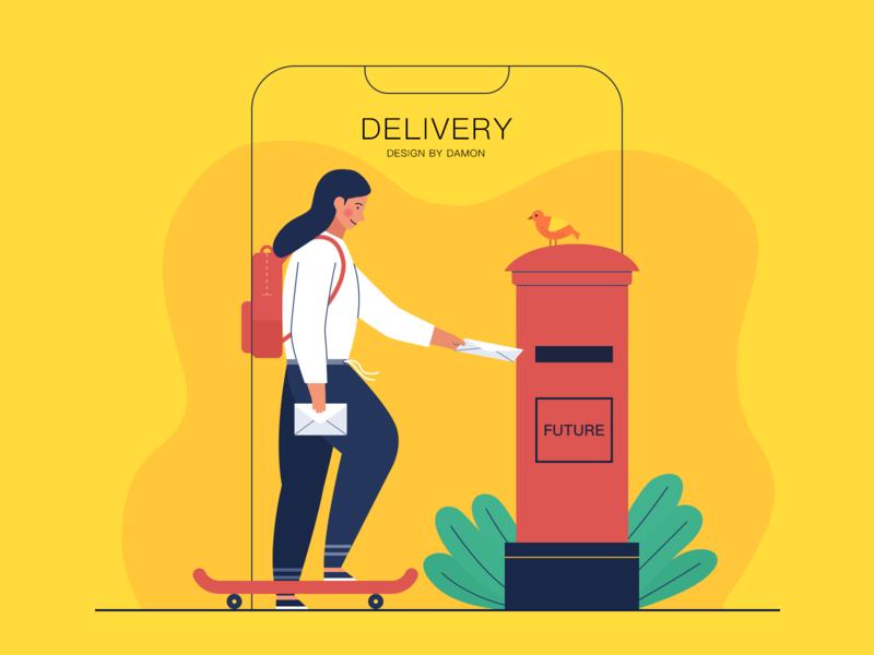 post  a letter mailbox letter illustration