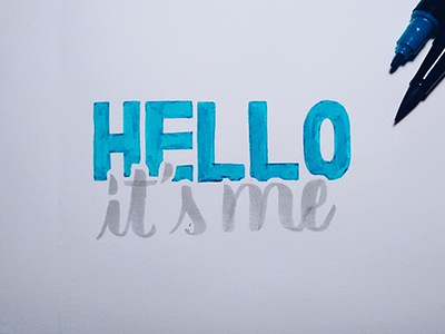 Hello from the other side handtype typography handmadefont font tombow lettering hello