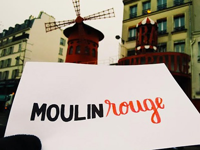 Moulin Rougeception handtype font tombow rouge moulin typography handmadefont lettering