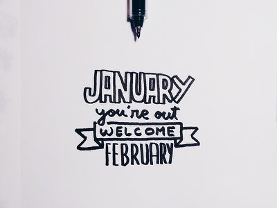 January is so last month... font handtype pilot month typography handmadefont lettering