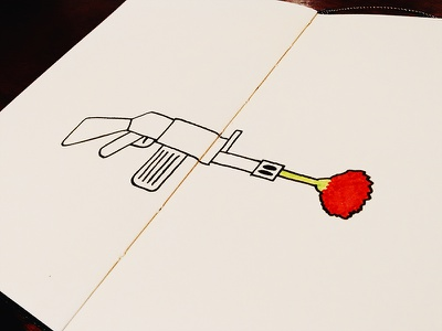 Portugal's Freedom Day illustration sketch freedom minimal peace flower gun red pen doodle