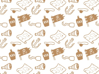 Pirate Pattern  icon cartoon wallpaper pirate vector illustration pattern