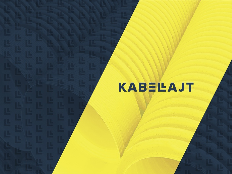 Kabellajt Logo & Corporate Identity unique bold electrical corporate identity brand graphicdesign graphic logodesign logo clean modern awesome blue yellow