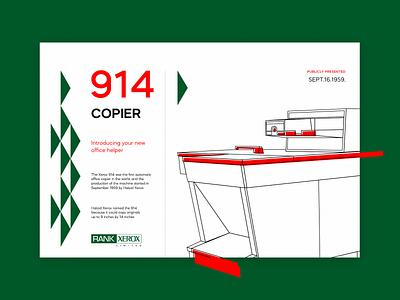 Xerox 914 graphicdesign graphic illustration design illustration copy machine copy machine photocopier anniversary xerox914 xerox