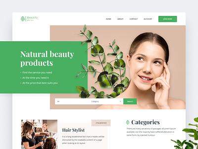 Natural Cosmetics Website Design design uidesign clean modern simple userinterface ui concept website concept webdesign websitedesign website green makeup natural cosmetics organic naturalcosmetics natural