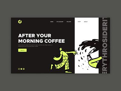 Coffee Brand Website Concept Design vibrance energy landingpage landing grey green dark interface coffeewebsite userexperience uxdesign ux userinterface uidesign ui website web brand coffeebrand coffee