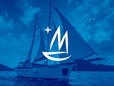 Sailing Logo Redesign yacht logoredesign redesign graphicdesigner graphic logodesigner mockup guideline poster sea modern clean blue branding logodesign logo sailinglogo sailing