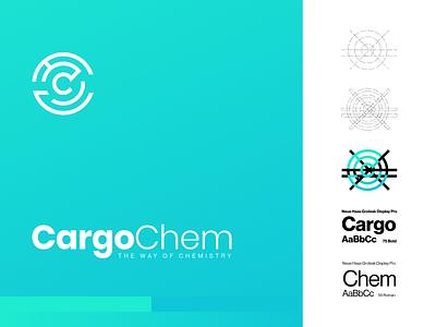 ChargoChem branding and identity branding agency digital chemistry cargo aqua blue illustrator logodesigner graphicdesign logo design fullbranding brandbook guideline logodesign logo branding