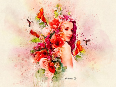 Smashing Calendar - June 2021 poster red women flower flowers colorful summer june smashing magazine calendar smashing