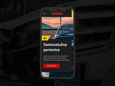 Sonax Car Wash Website black clean mobile car wash modern website ux ui webdesign