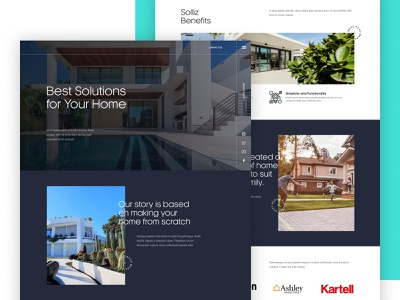 Solliz - Agency for Your Home Solutions - UI Concept Design designer userexperience userinterface modernui modern simple clean layout uilayout figma webdesign exterior interior homedesign home solutions uidesign uiux ux