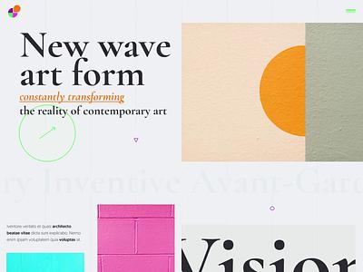 Art Web Concept modern website uidesign clean userinterface colorful modern art website concept ui webdesign web art