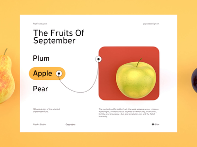 The Fruits Of September uiconcept designer uidesign userexperience uiux yellow colors interactive colorful vrconcept vrslider concept autumn vr userinterface ui september fruits