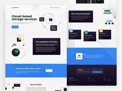 Cloud Design Concept lightui darkui dark light figma webdesign web homepage landingpage userinferface uiux uidesign storage cloud